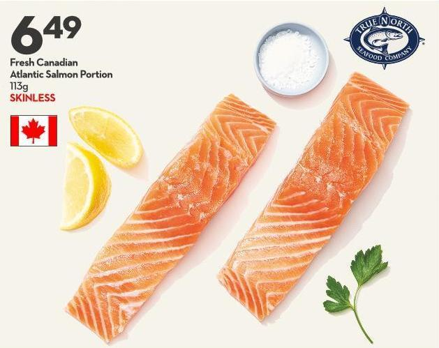 Fresh Canadian Atlantic Salmon Portion 113g