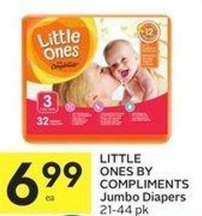 Little Ones By Compliments Jumbo Diapers 21-44 Pk