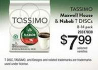 Tassimo Maxwell House & Nabob T Discs - 8-14 Pack