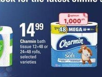 Charmin Bath Tissue - 12=48 or 24=48 Rolls