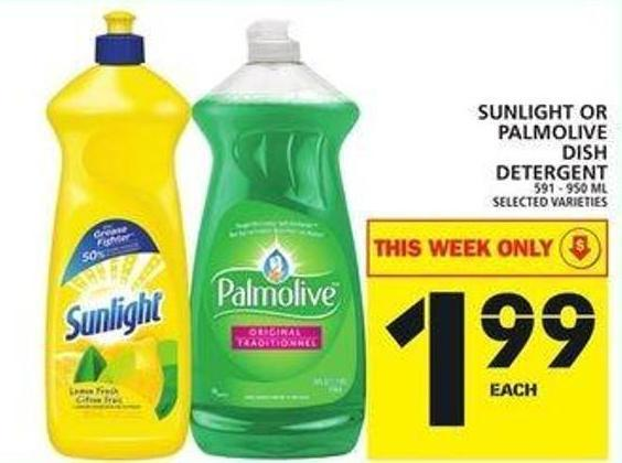 Sunlight Or Palmolive Dish Detergent