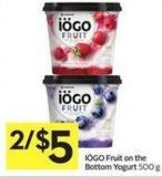 Iögo Fruit On The Bottom Yogurt