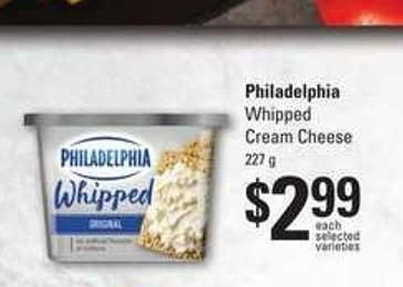 Philadelphia Whipped Cream Cheese - 227 g