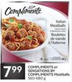 Compliments or Sensations By Compliments Meatballs