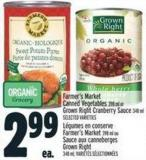 Farmer's Market Canned Vegetables Or Grown Right Cranberry Sauce 398 ml