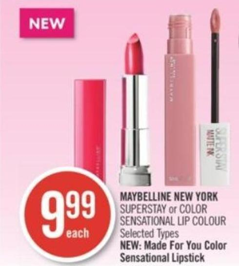 Maybelline New York Superstay or Color Sensational Lip Colour