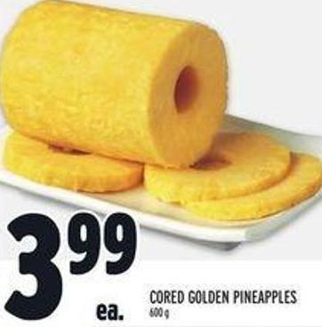 Cored Golden Pineapples