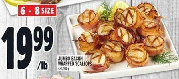 Jumbo Bacon Wrapped Scallops