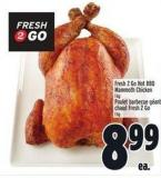 Fresh 2 Go Hot Bbq Mammoth Chicken 1 Kg
