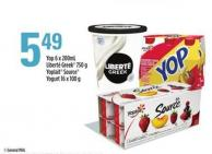 Yop - 6 X 200ml - Liberté Greek - 750 g - Yoplait Source Yogurt - 16 X 100 g