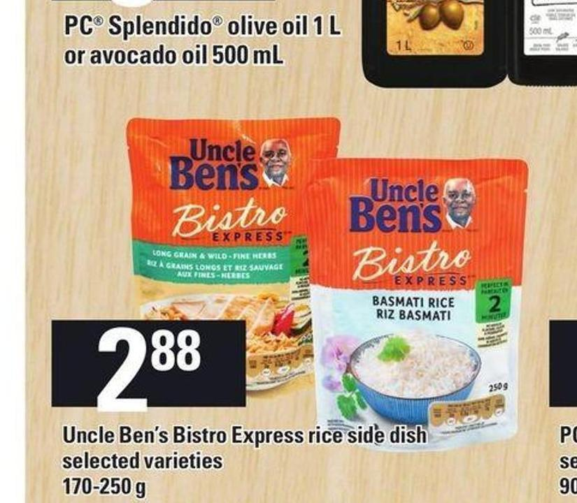Uncle Ben's Bistro Express Rice Side Dish.170-250 g