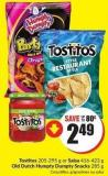 Tostitos 205-295 g or Salsa 416-423 g Old Dutch Humpty Dumpty Snacks 285 g