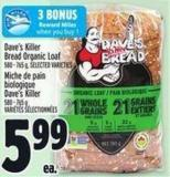 Dave's Killer Bread Organic Loaf