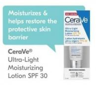 Cerave Ultra-light Moisturizing Lotion SPF 30