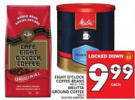 Eight O'clock Coffee Beans Or Melitta Ground Coffee