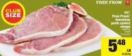 PC Free From Boneless Pork Centre Chops