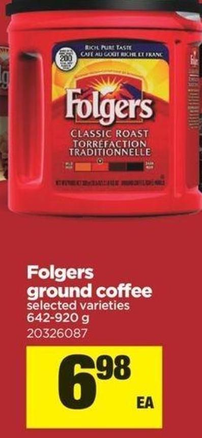 Folgers Ground Coffee - 642-9200 G