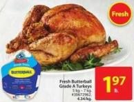 Fresh Butterball Grade A Turkeys
