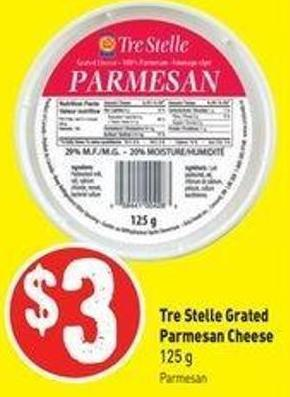 Tre Stelle Grated Parmesan Cheese - 125 G