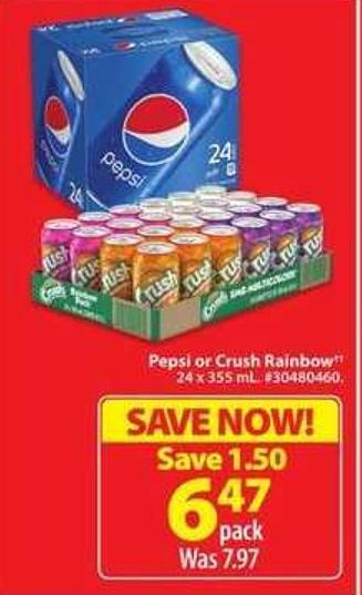 Pepsi or Crush Rainbow