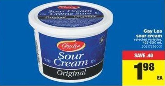 Gay Lea Sour Cream - 425/500 Ml