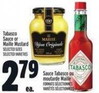 Tabasco Sauce Or Maille Mustard
