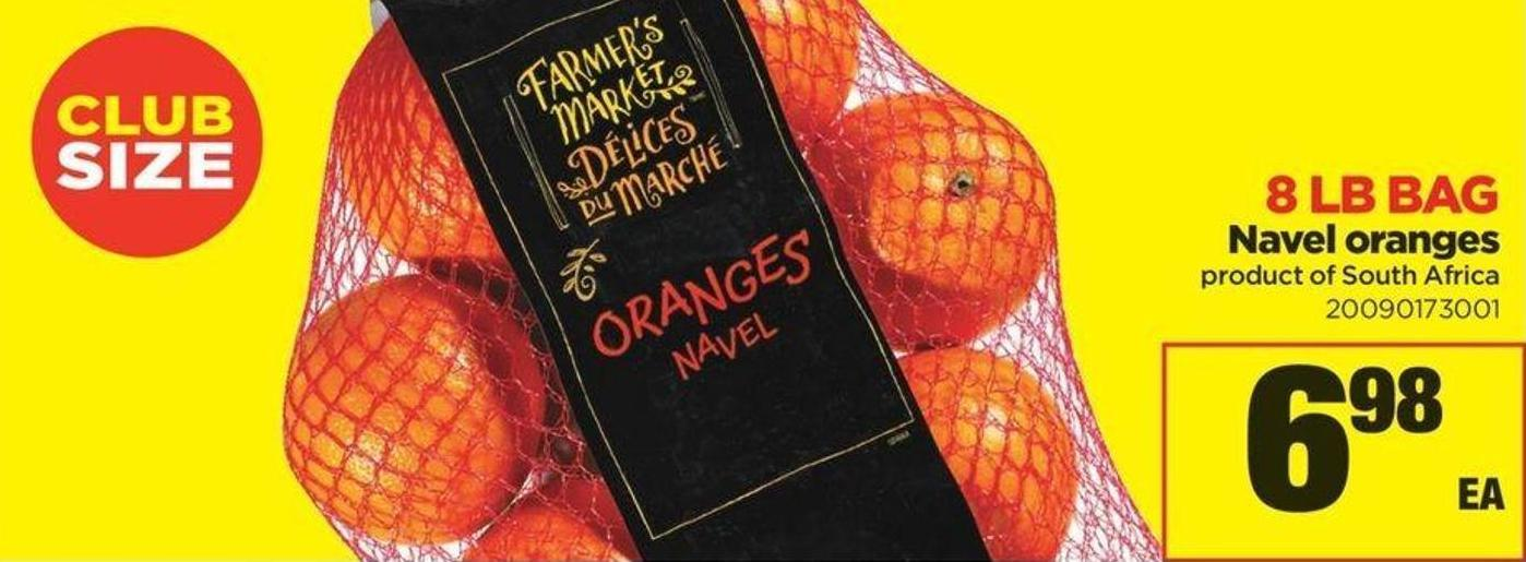Navel Oranges - 8 Lb Bag