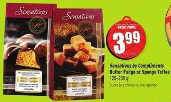 Sensations By Compliments Butter Fudge or Sponge Toffee