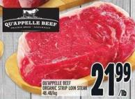 Qu'appelle Beef Organic Strip Loin Steak