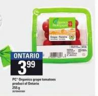 PC Organics Grape Tomatoes - 255 g