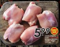 Compliments Fresh Air-chilled Boneless Skinless Chicken Thighs