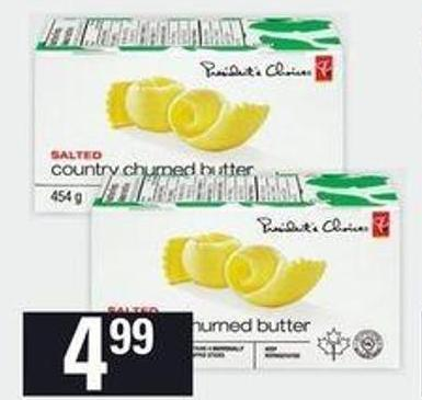 PC Country Churned Butter Quarters - 454 G