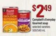 Campbell's Everyday Gourmet Soup - 500/540 mL