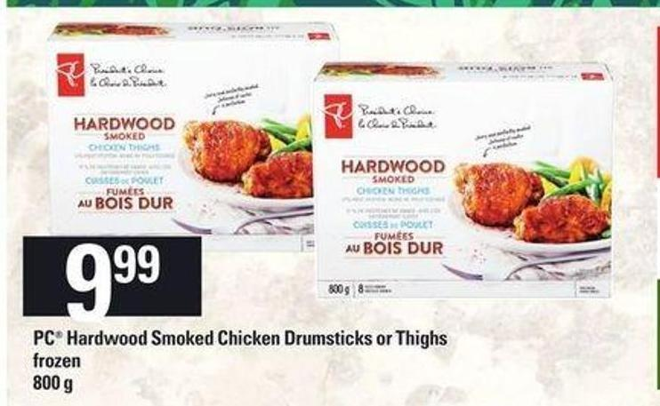 PC Hardwood Smoked Chicken Drumsticks Or Thighs - 800 G