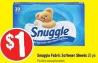 Snuggle Fabric Softener Sheets 20 Pk