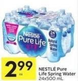 Nestlé Pure Life Spring Water - 24x500 ml