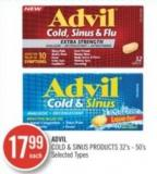 Advil Cold & Sinus Products 32's-50's