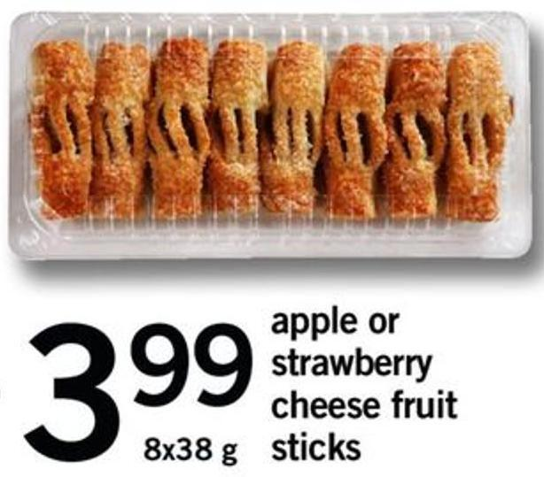 Apple Or Strawberry Cheese Fruit - 8x38 G