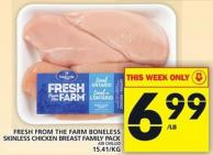 Fresh From The Farm Boneless Skinless Chicken Breast Family Pack