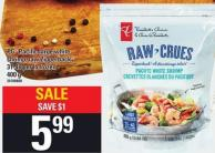 PC Pacific Large White Shrimp Raw Zipperback - 31-40 Per Lb Frozen 400 g