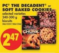 PC The Decadent or Soft Baked Cookies - 240-300 g