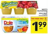 Mott's Fruitsations Or Dole Fruit