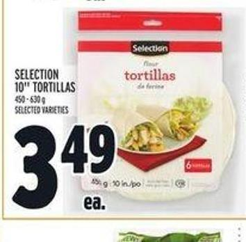 Selection 10in Tortillas