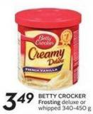 Betty Crocker Frosting Deluxe or Whipped