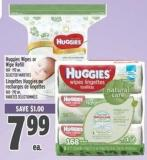 Huggies Wipes Or Wipe Refill 168 - 192 Un.