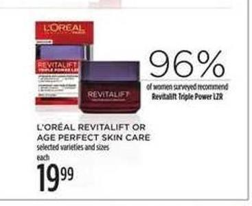 L'oréal Revitalift Or Age Perfect Skin Care
