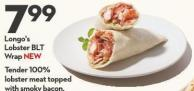 Longo's  Lobster Blt  Wrap New