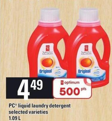 PC Liquid Laundry Detergent - 1.09l