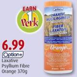 Option+ Laxative Psyllium Fibre Orange 370g