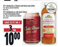 Gt's Kombucha Or Station Cold Brew Iced Coffee